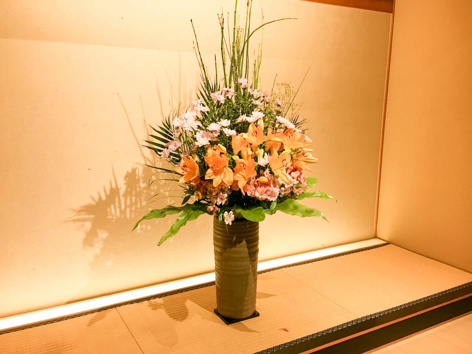 床の間の花の写真