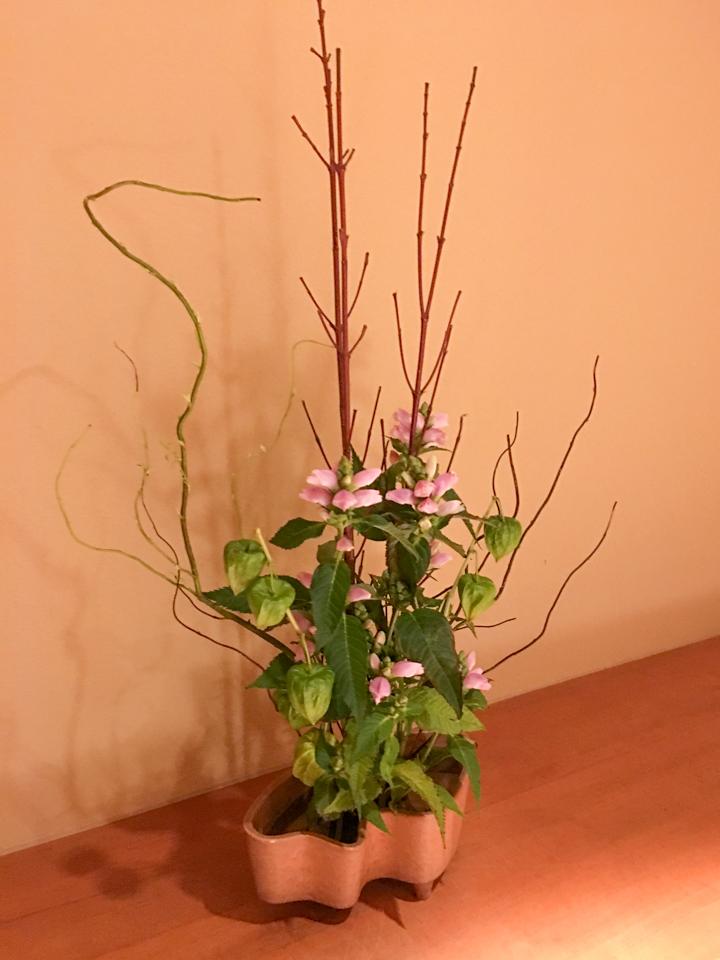 モダンな生け花の写真