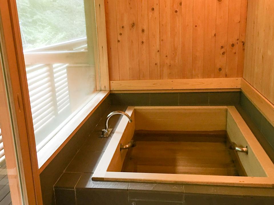 内風呂の写真