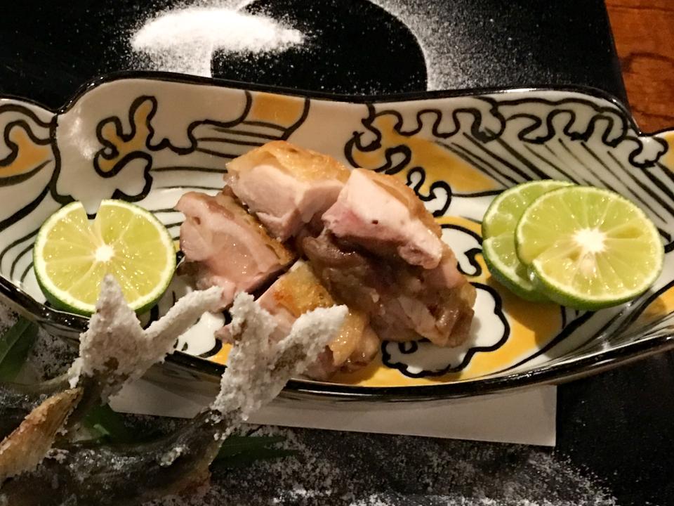 地鶏塩焼きの写真