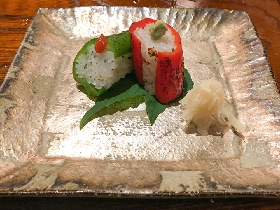 万願寺寿司の焼き皿の写真