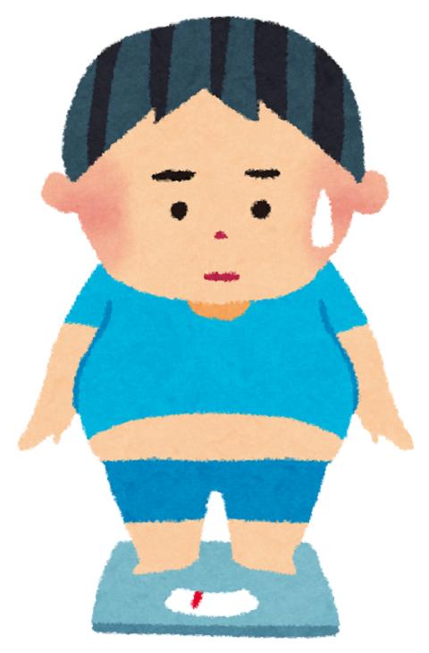 太った男子のイラスト