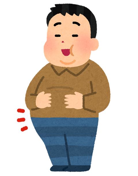 肥満の中年男性のイラスト