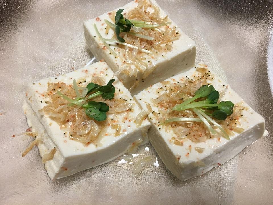 豆腐の前菜の写真
