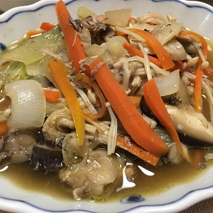 鯖缶の野菜煮の写真