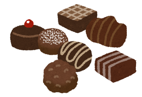 プレゼントのチョコのイラスト