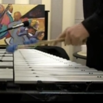 ゲイリー・バートンが演奏する手元の写真