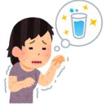 のどが渇いた女性のイラスト