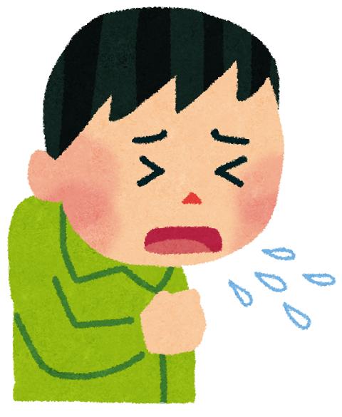 咳き込んでいる男性のイラスト