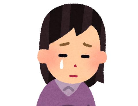 泣いているイラスト