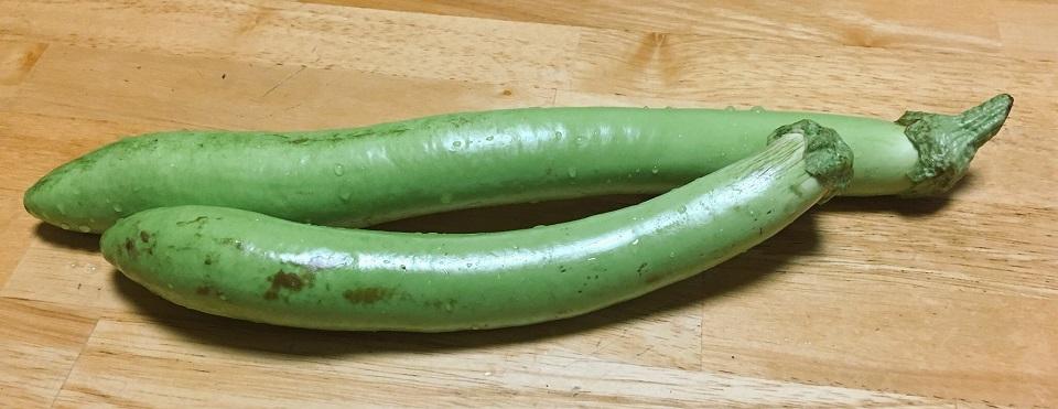 白ナス緑美の写真