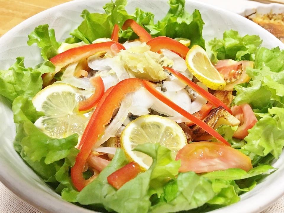 鯖缶オシャレごちそうサラダの写真
