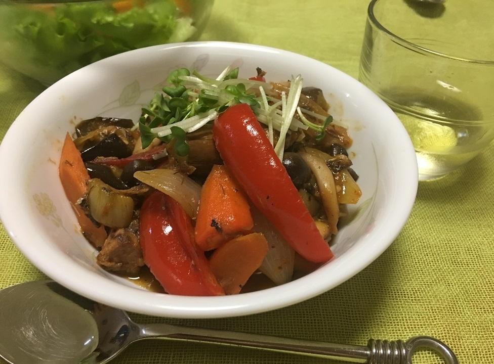 鯖缶野菜たっぷり洋風煮の写真