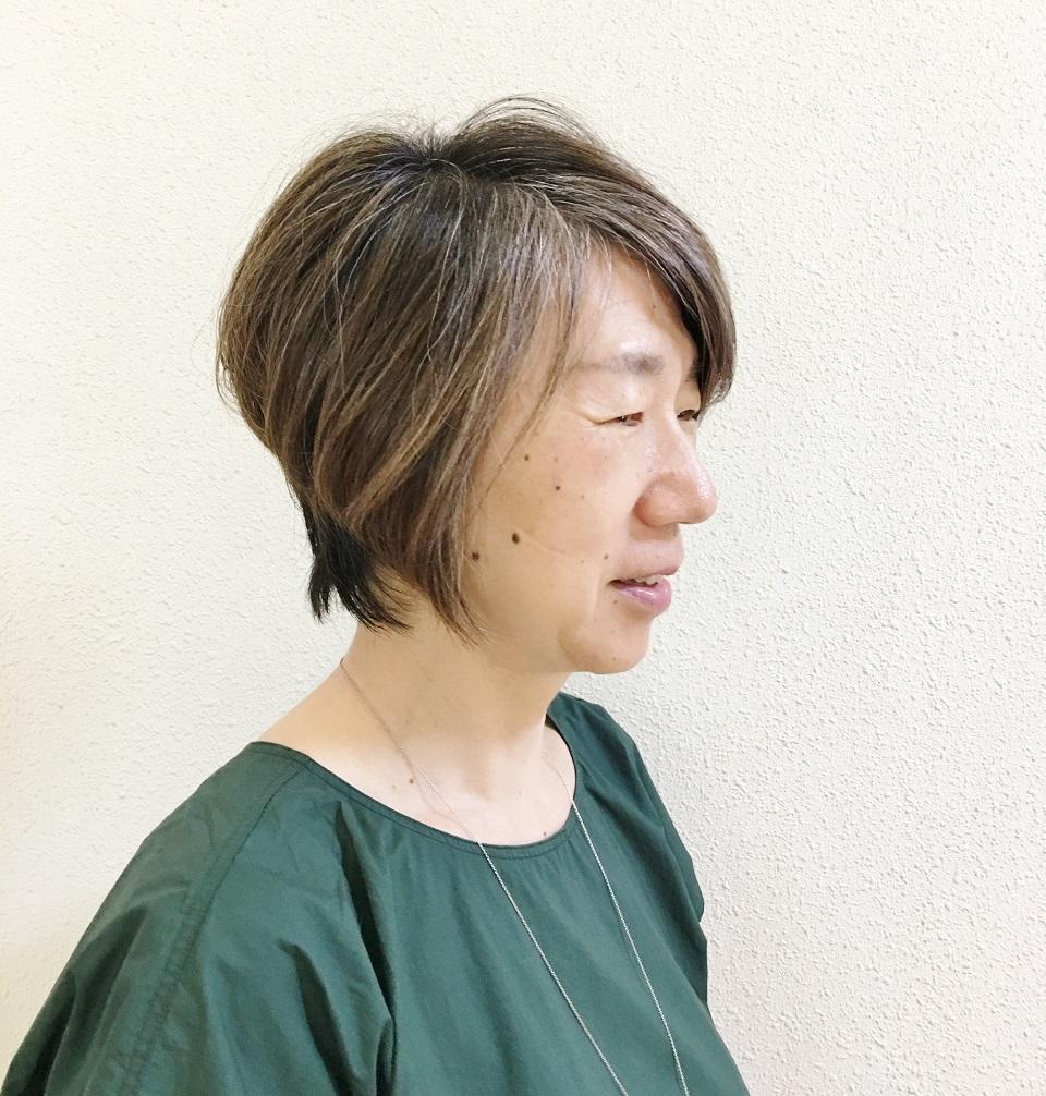 最近、美容院へ行った後の私の写真