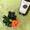 パン粉ぬか漬けと白ワインの写真