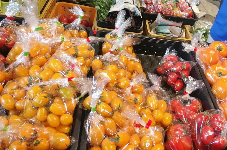 オアシス朝市村のトマトの写真