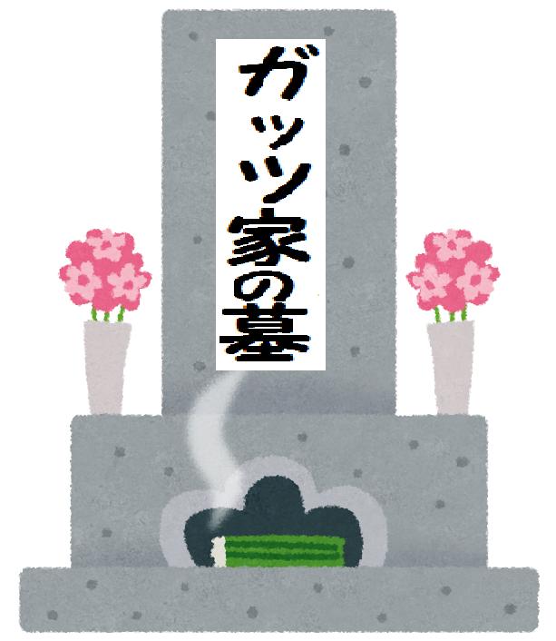 ガッツ家の墓のイラスト