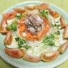 鯖缶とズッキーニのサラダの写真