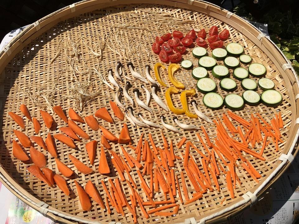 野菜を干しているの写真