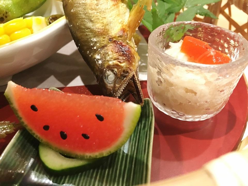 金魚とスイカの写真