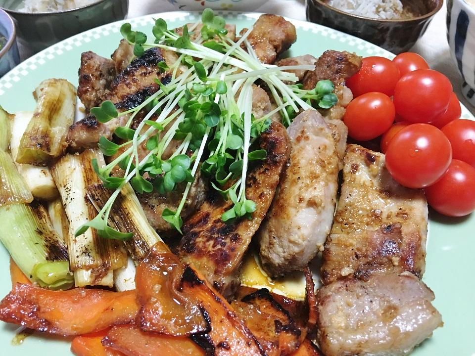 豚肉の塩麹漬け焼きの写真