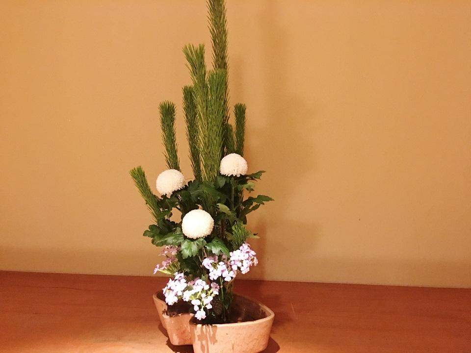 右源太の部屋の活花の写真