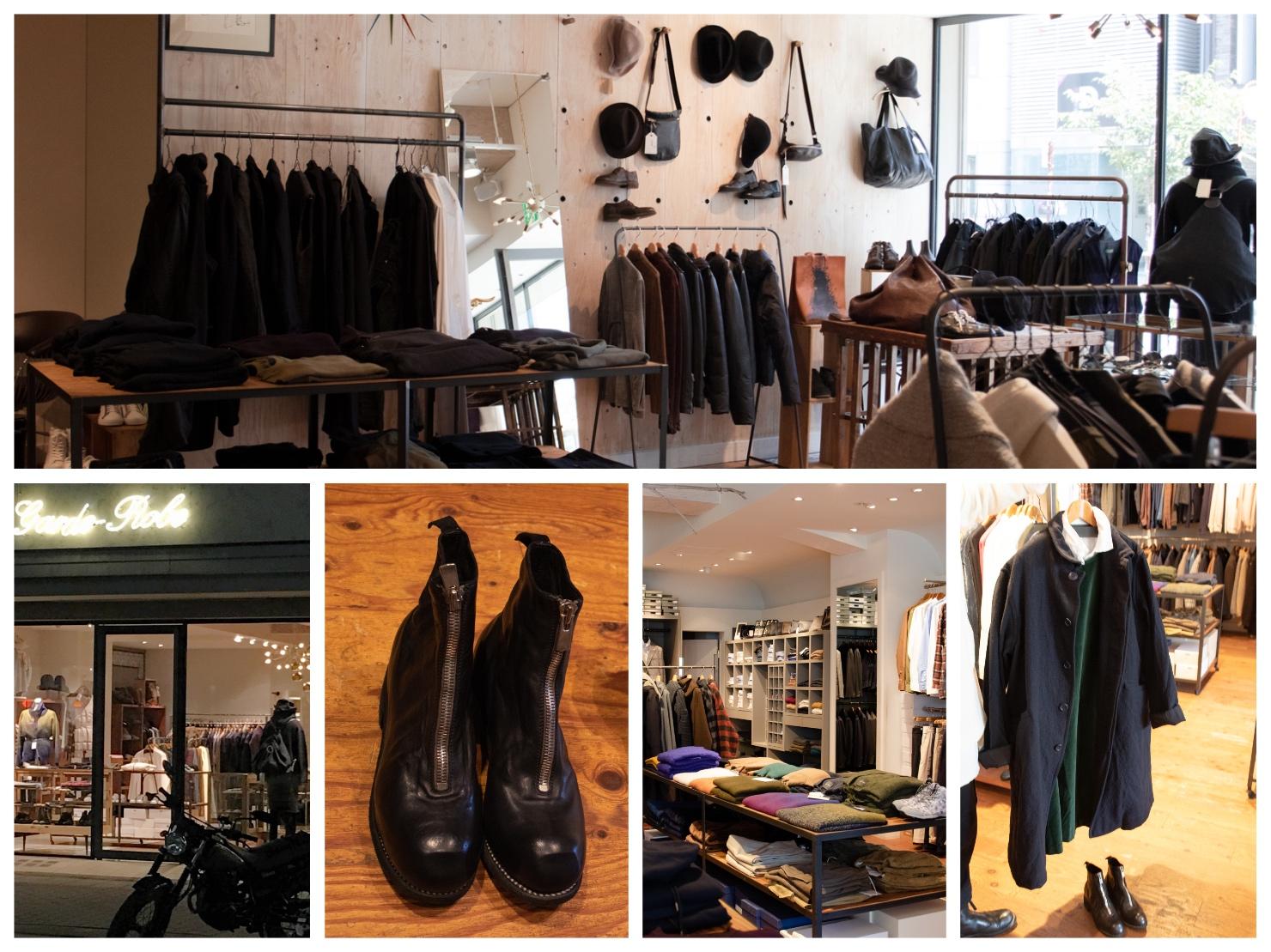 ギャルドローブの外観や店内、靴などの写真