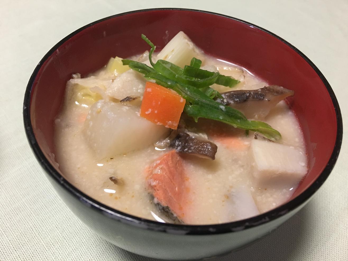 鮭の粕汁の写真