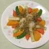 レンチン野菜 with アヒージョソースの写真