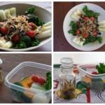しらすドレッシングと野菜のサラダの写真