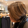 グレイヘア移行期間でもきれいな髪色のガッツの写真