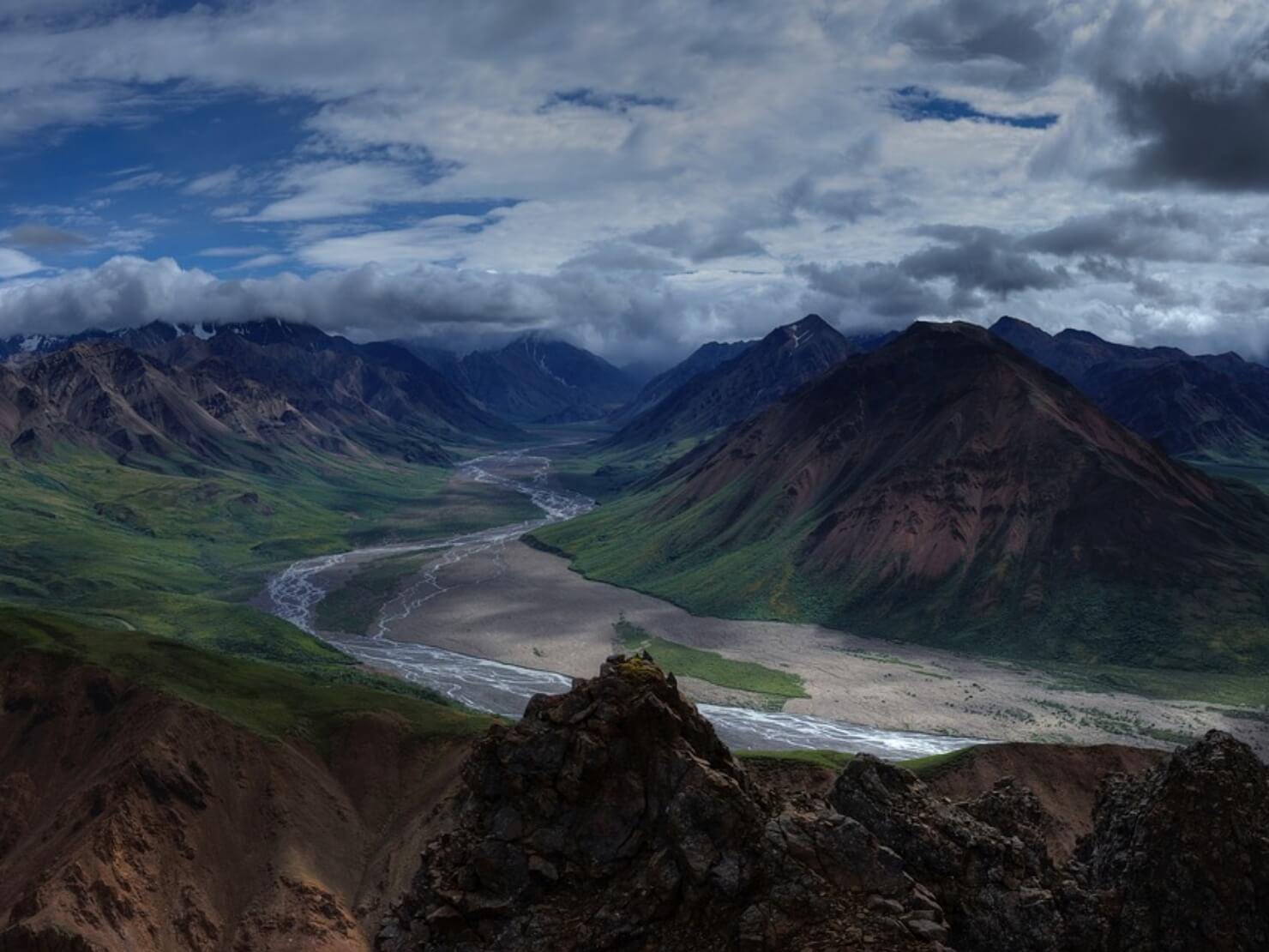 山の景色の写真