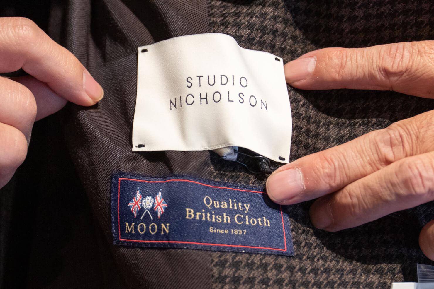 ジャケットのラベルの写真