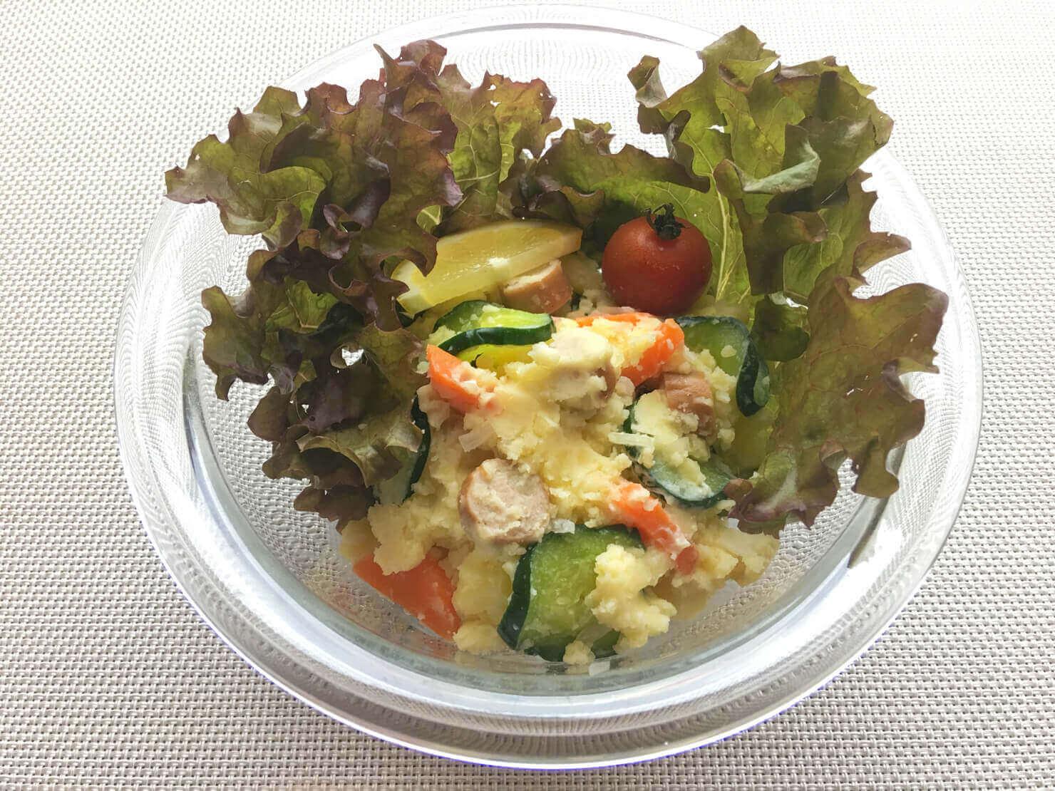 きゅうりの漬物入りポテトサラダの写真