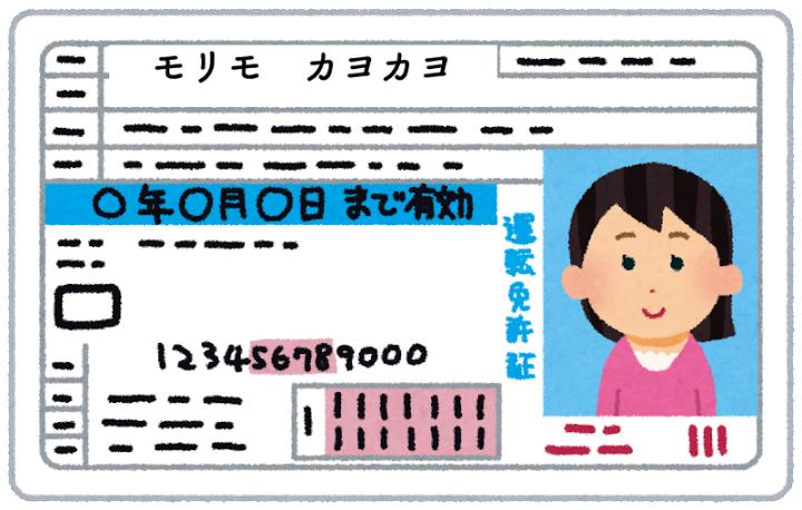 「モリモ カヨカヨ」の免許証のイラスト