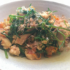 おかひじきと豆腐と豚肉の炒め物の写真
