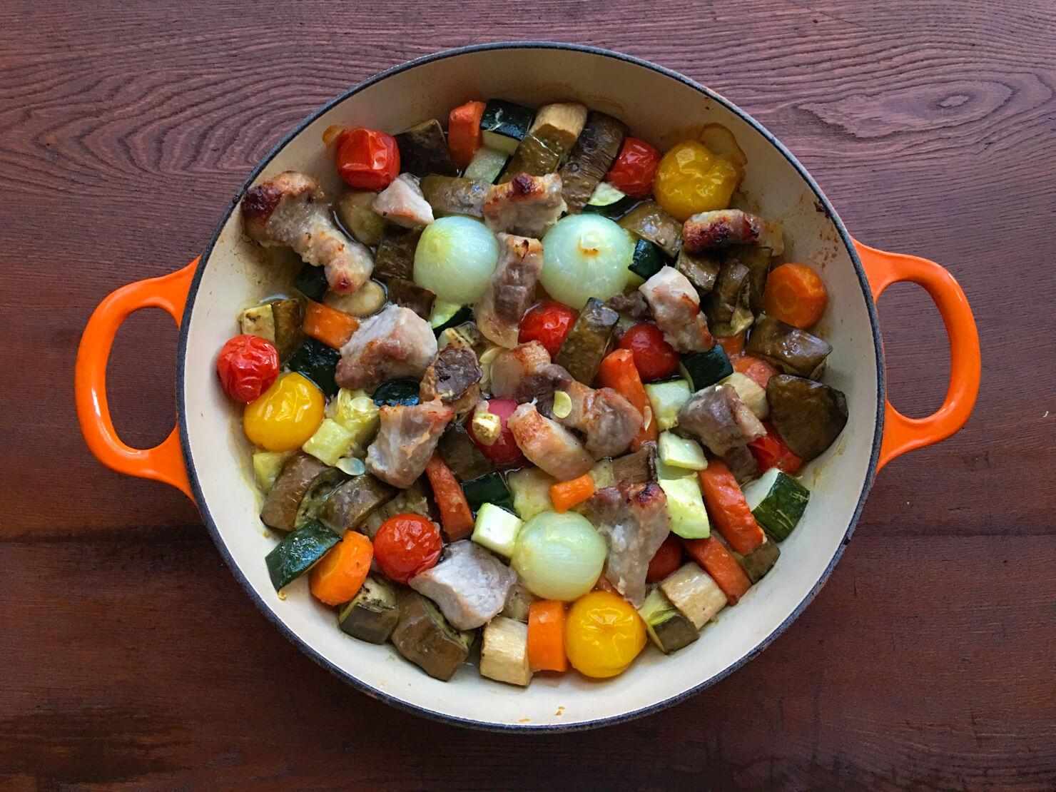 野菜のオーブン焼きの写真