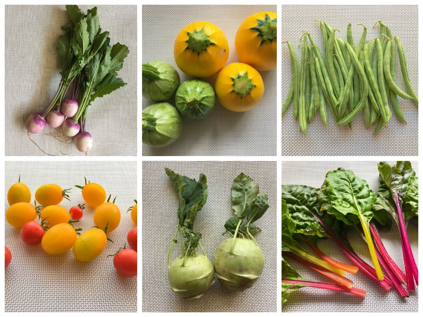色のきれいな野菜の写真