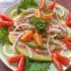 水ナスと白ナスのサラダの写真
