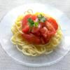 トマトの冷製パスタの写真