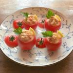 トマトカップのツナサラダ・可愛さ満喫|ゴニョ研