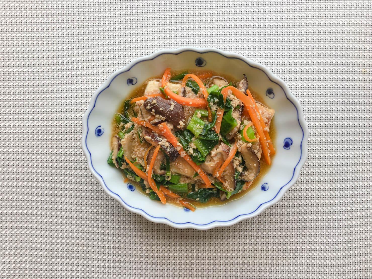 豆腐ステーキつるむらさきあんかけの写真
