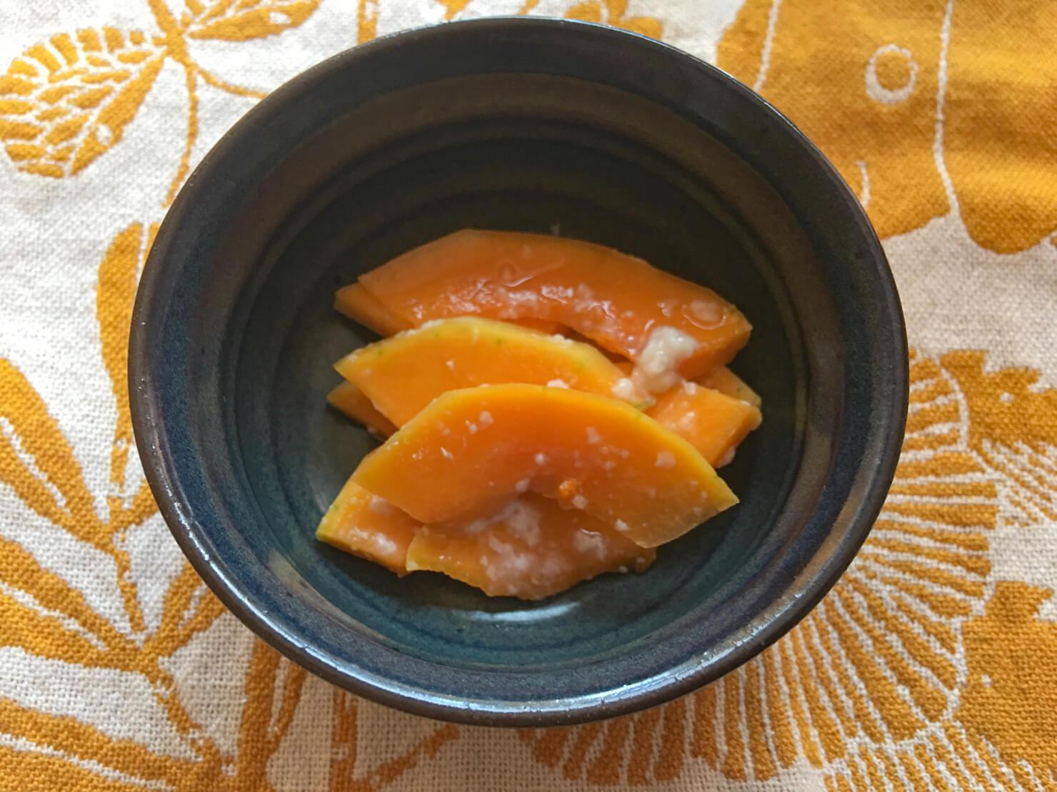 バターナッツかぼちゃの塩麹漬けの写真