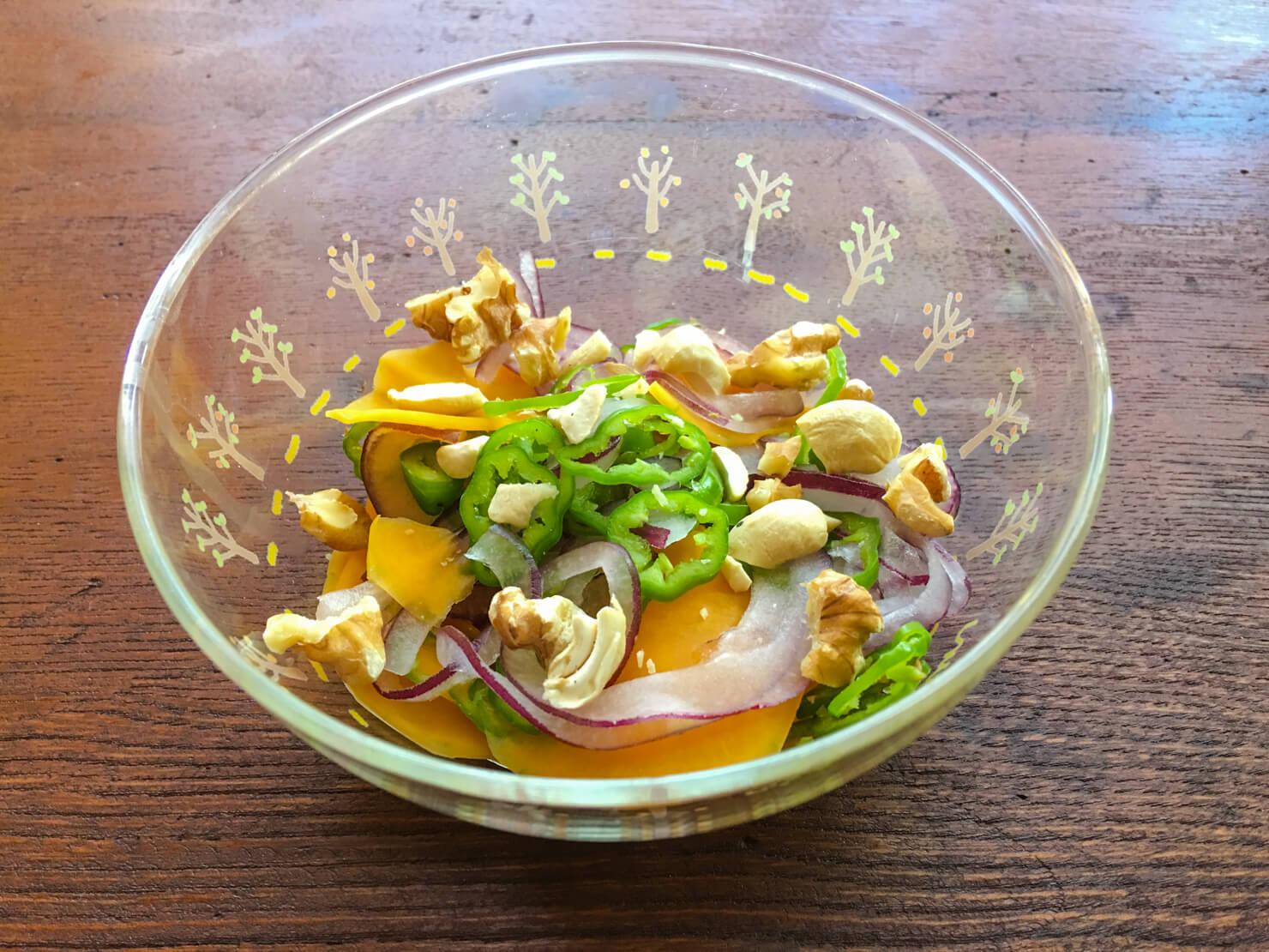 バターナッツかぼちゃのサラダの写真