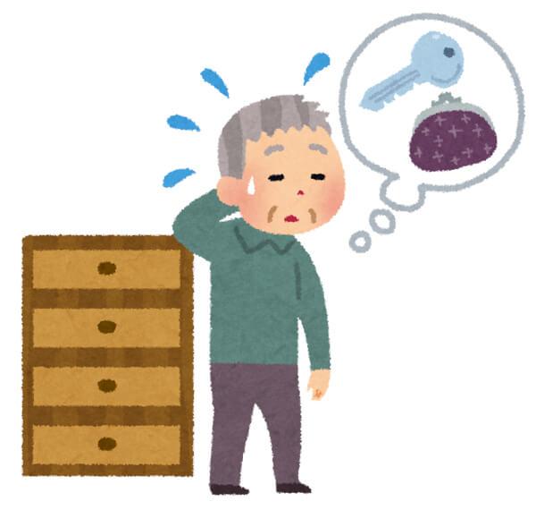 認知症の男性のイラスト