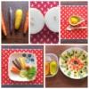 かわいい野菜とその料理の写真