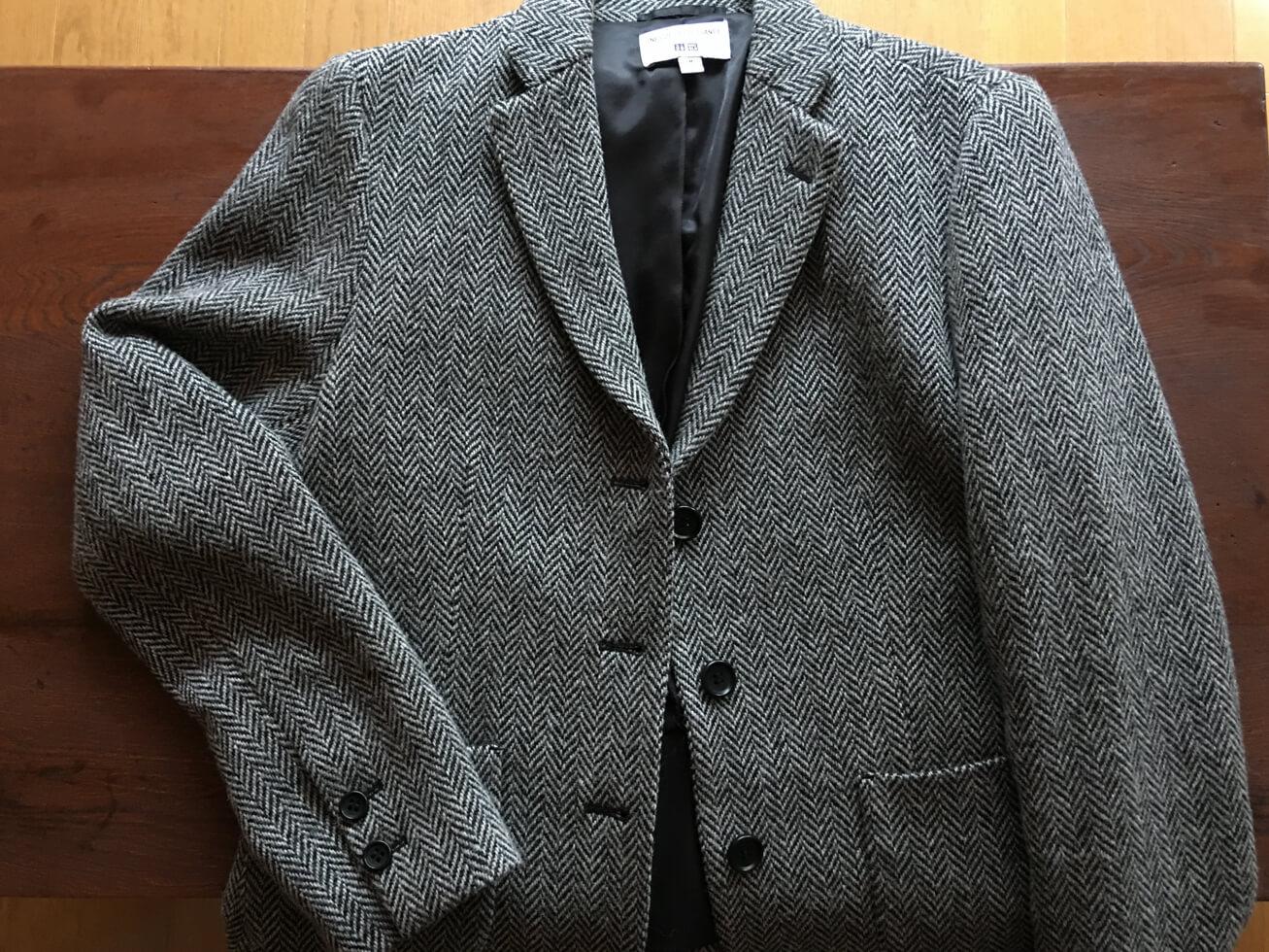 ユニクロのグレンチェックのジャケットの写真