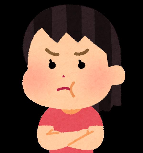 怒っている女の子のイラスト