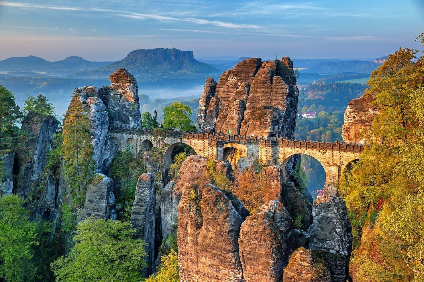 絶景の橋の写真
