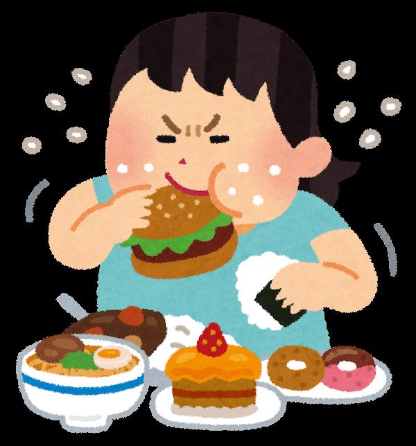 食べている人のイラスト